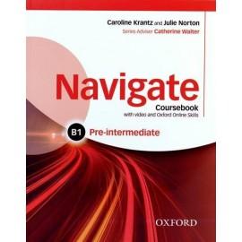 Navigate Pre-Intermediate Coursebook + DVD-ROM + Oxford Online Skills Practice
