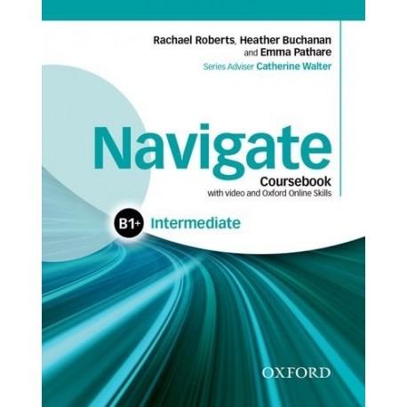 Navigate Intermediate Coursebook + DVD-ROM + eBook + Oxford Online Skills Practice Oxford University Press 9780194566636