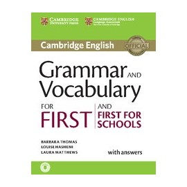 Grammar and Vocabulary for First and First for Schools New Edition with Answers + Audio download