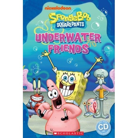 Popcorn ELT: SpongeBob Squarepants - Underwater Friends + CD (Level Starter) Scholastic 9781909221833