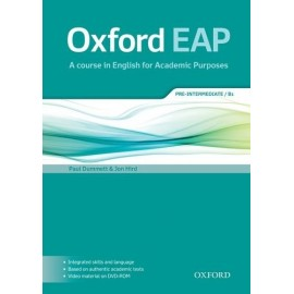 Oxford EAP English for Academic Purposes B1 Pre-Intermediate Student's Book + DVD-ROM
