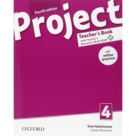 Project 4 Fourth Edition Teacher's Book + Teacher's Resources MultiROM with Online Practice Oxford University Press 9780194704076