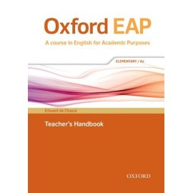 Oxford EAP English for Academic Purposes A2 Elementary Teacher's Handbook + DVD-ROM