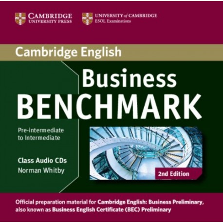 Business Benchmark Second Edition Pre-intermediate - Intermediate Class Audio CDs Cambridge University Press 9781107611030