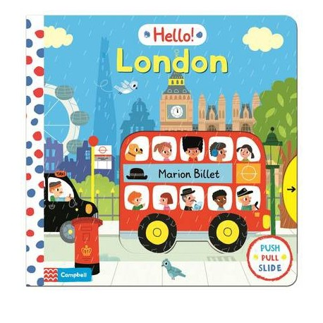Hello London pull-and-slide board book Pan Macmillan 9781447246824