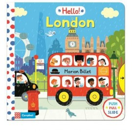 Hello London pull-and-slide board book
