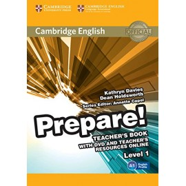 Prepare! 1 Teacher's Book + DVD + Teacher's Resources Online