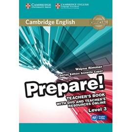 Prepare! 3 Teacher's Book + DVD + Teacher's Resources Online