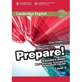 Prepare! 4 Teacher's Book + DVD + Teacher's Resources Online