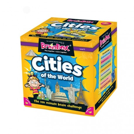 BrainBox Cities of the World Green Board Game 5025822900449