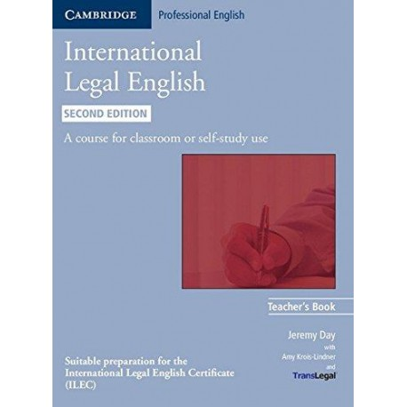 International Legal English Teacher's Book Second Edition Cambridge University Press 9780521279468