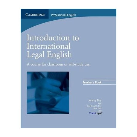 Introduction to International Legal English Teacher's Book Cambridge University Press 9780521712033