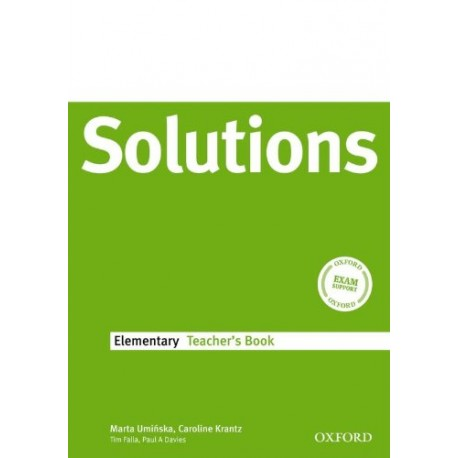 Maturita Solutions Elementary Teacher's Book Oxford University Press 9780194551625