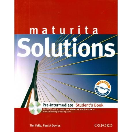 Maturita Solutions Pre-Intermediate Student's Book + MultiROM Oxford University Press 9780194551687