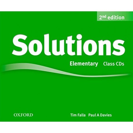 Maturita Solutions Second Edition Elementary Class Audio CDs Oxford University Press 9780194554237