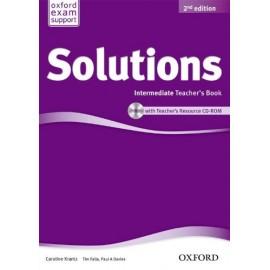 Maturita Solutions Second Edition Intermediate Teacher's Book + CD-ROM