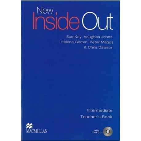 New Inside Out Intermediate Teacher's Book + Test CD Macmillan 9780230020979