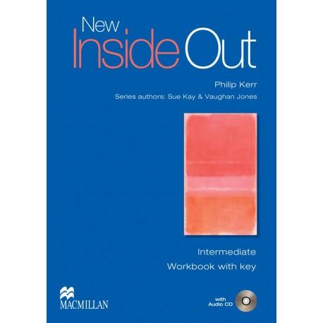New Inside Out Intermediate Workbook with Key + CD Macmillan 9780230009097