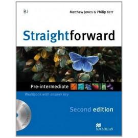 Straightforward Pre-Intermediate Second Ed. Workbook with Key + CD