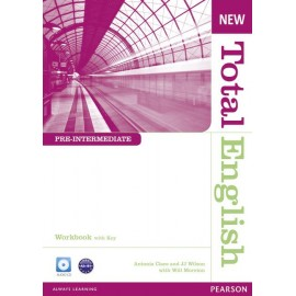 New Total English Pre-Intermediate Workbook with Key + Audio CD