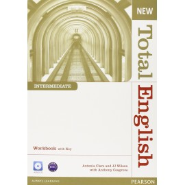 New Total English Intermediate Workbook with Key + Audio CD