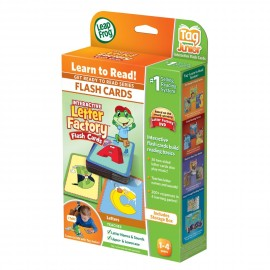 LeapFrog Get Ready to Read Series Interactive Letter Factory Tag Junior Flash Cards