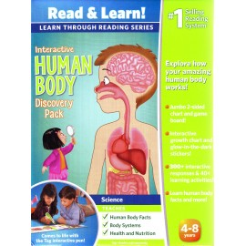 LeapFrog Learn through Reading Series Interactive Human Body Discovery LeapReader Pack