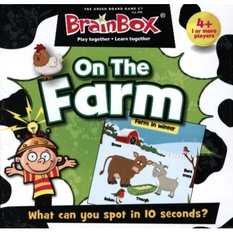BrainBox On the Farm Green Board Game 5025822900470