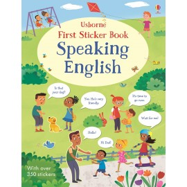Usborne First Sticker Book Speaking English