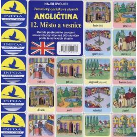Angličtina-pexeso 12. Město a vesnice