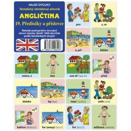 Angličtina-pexeso 19. Předložky a příslovce