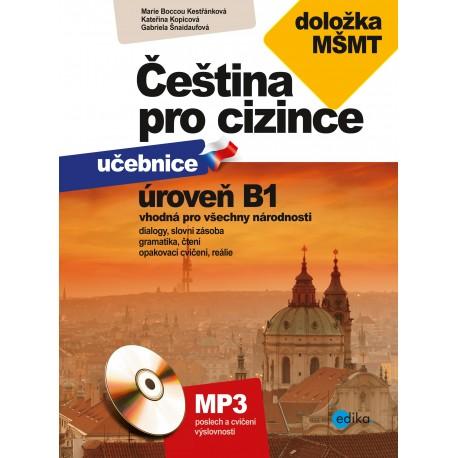 Čeština pro cizince učebnice a cvičebnice B1 + MP3 Audio CD Edika 9788026610489
