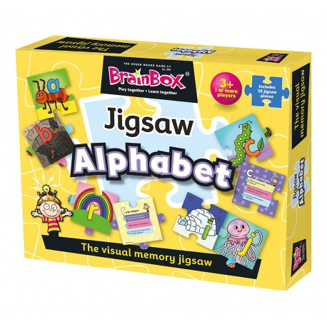 BrainBox Jigsaw Alphabet The Green Board Game 5025822910011