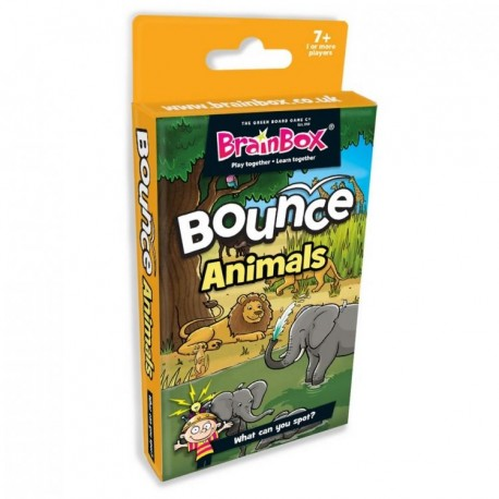 BrainBox Bounce Animals The Green Board Game 5025822900883