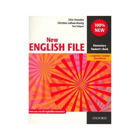 New English File Elementary Student's Book + CZ Wordlist Oxford University Press 9780194519083
