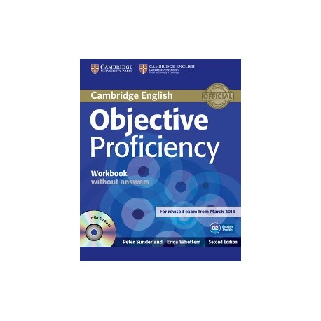 Objective Proficiency Second Edition Workbook without answers with Audio CD 9781107621565