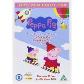 Peppa Pig Triple Pack Collection DVD: Stars, Cold Winter Day, The Balloon Ride