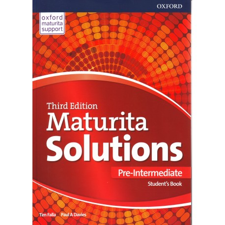 Maturita Solutions Third Edition Pre-Intermediate Student's Book Czech Edition