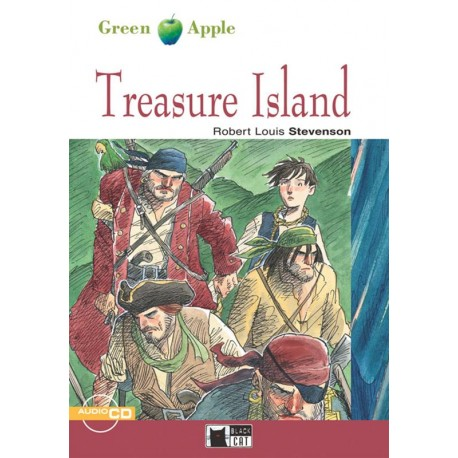 Treasure Island + CD Black Cat - CIDEB 9788877549273
