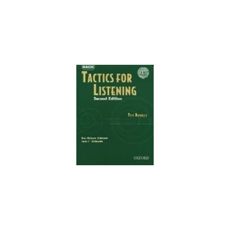 Basic Tactics for Listening Test Booklet + CD Oxford University Press 9780194388306
