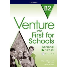 Venture into First for Schools Workbook with Key + Audio CD
