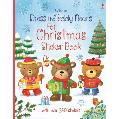 Usborne Dress the Teddy Bears for Christmas Sticker Book