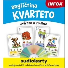 Angličtina - Audiokarty - Kvarteto + CD