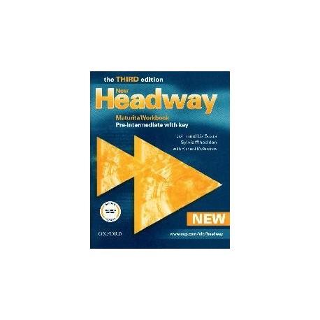 New Headway Pre-intermediate Third Edition Maturita Workbook with key Oxford University Press 9780194716765