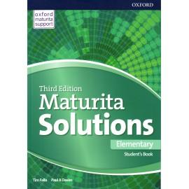 Maturita Solutions Third Edition Elementary Student's Book Czech Edition
