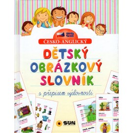 Česko-anglický dětský obrázkový slovník s přepisem výslovnosti