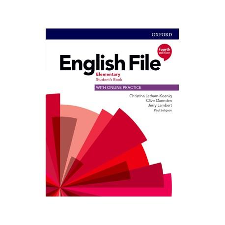 English File Fourth Edition Elementary Student's Book s anglicko-českým slovníčkem a Online Practice