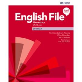 English File Fourth Edition Elementary Workbook with Answer Key