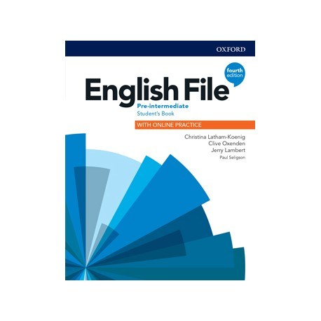 English File Fourth Edition Pre-Intermediate Student's Book with Student Resource Centre Pack (Czech