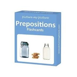 Preposition Flashcards: 40 Positional Language Photo Cards
